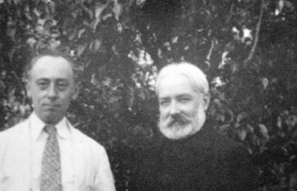 With his friend Bernaux at Port des barques in the thirties.