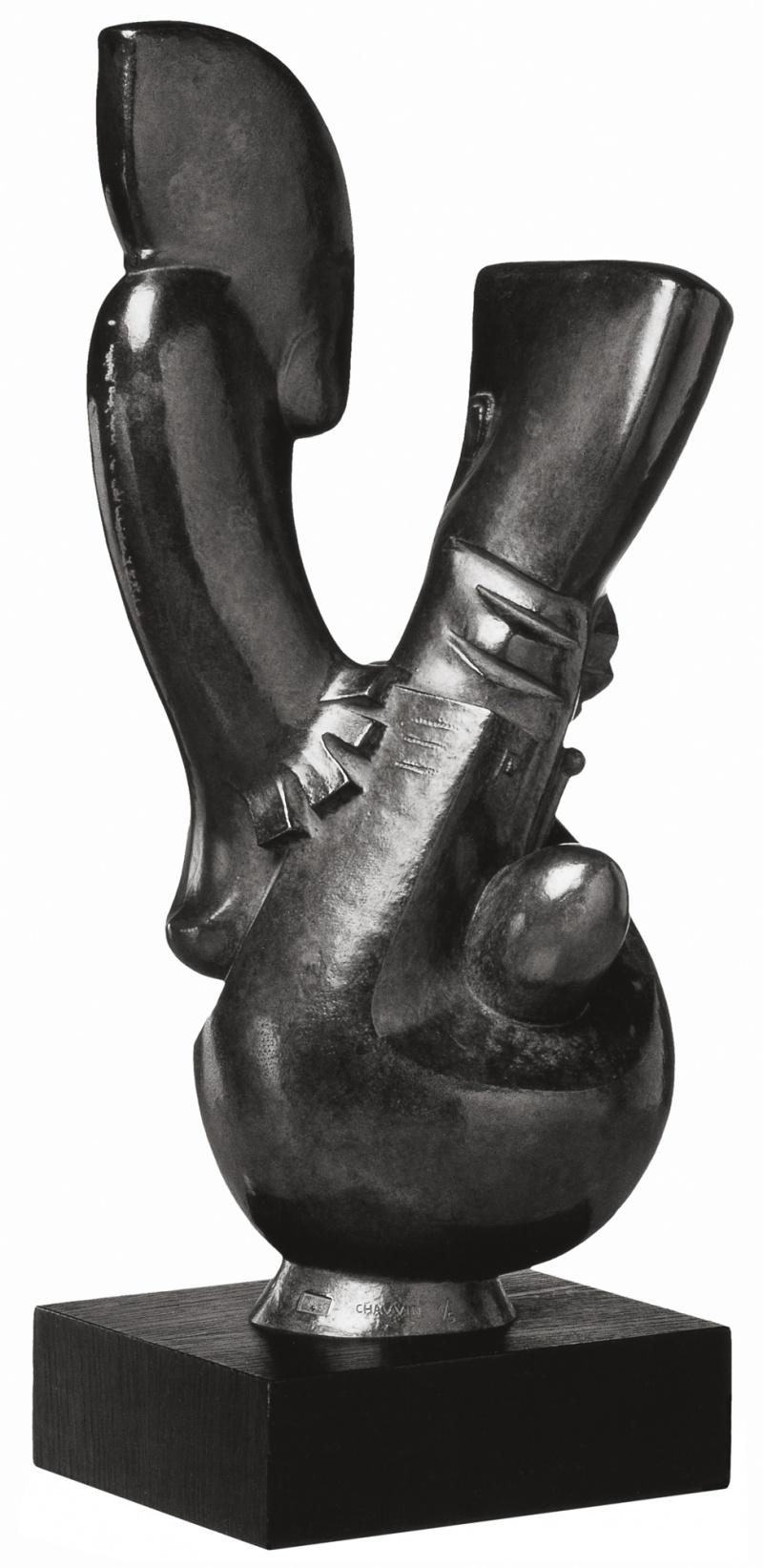 Jean Chauvin - Sculpteur - L'enfant Égaré - bronze - 1938