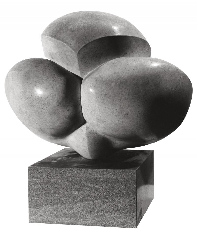 Jean Chauvin - Sculpteur - Sphinx accroupi - pierre - 1946