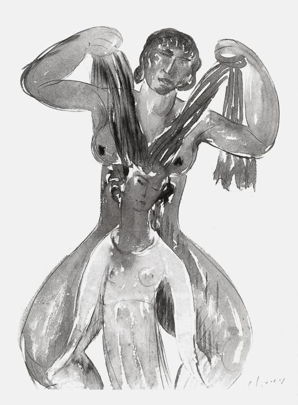 Vers 1909, plume aquarelle et encre de chine.Collection particulière.