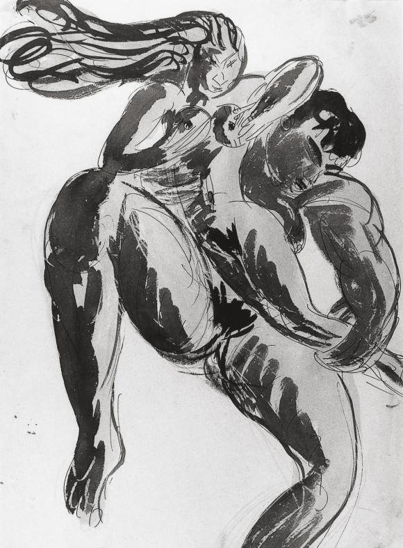 Vers 1909, plume aquarelle et encre de chine. Collection Musée d'Art Moderne de la Ville de Paris.